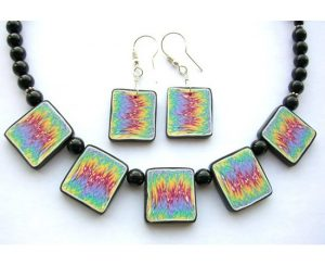 Polymer clay necklace set