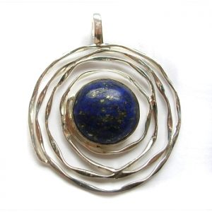 Lapis lazuli pendant with sterling silver