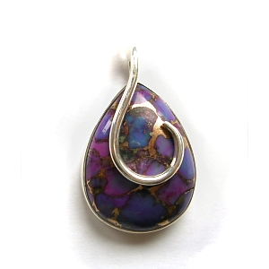 Purple mohave turquoise & sterling silver pendant £35