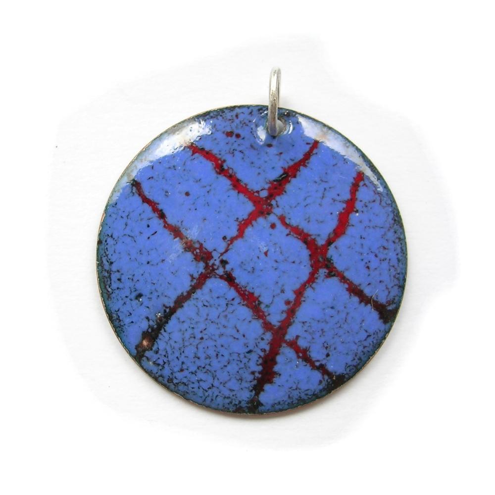 ep001 £20 enamel pendant & chain