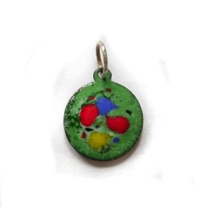ep012  £18 small enamel pendant & chain