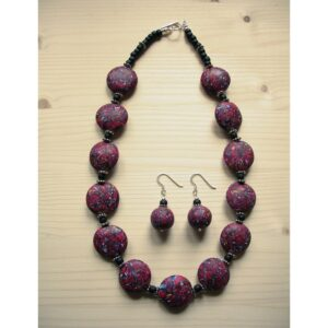 handcrafted Polymer clay necklace and earrings set