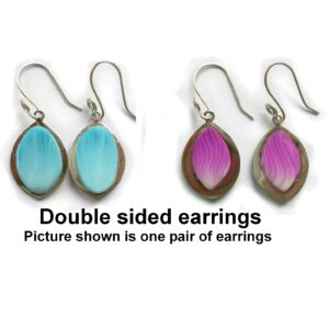 Double sided polymer clay earrings set in sterling silver
