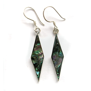 Paua shell & sterling silver earrings
