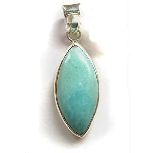 Larimar pendant with sterling silver
