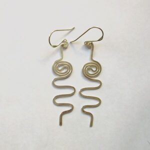 Sterling silver twirly earrings