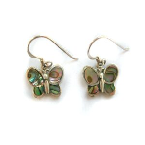 paua shell butterfly earrings