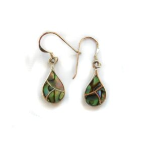 Paua shell sterling silver earrings
