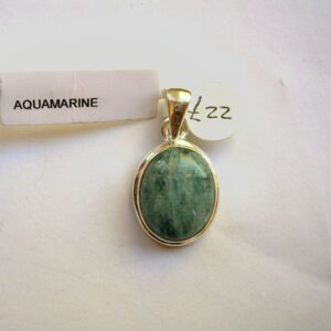 Aquamarine and sterling silver pendant